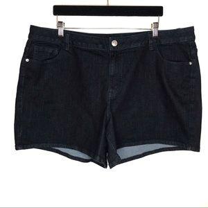 Lane Bryant Venezia True Indigo Rinse Wash Shorts
